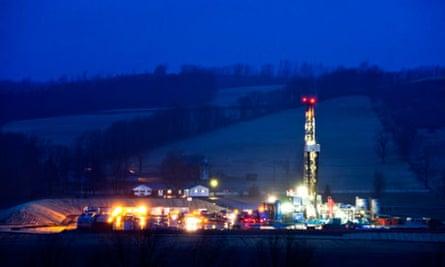 A fracking site in rural Pennsylvania