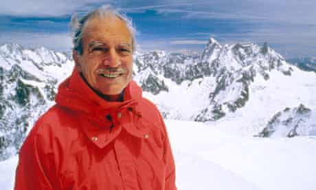 Maurice Herzog in Chamonix in 1990