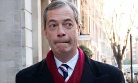 Nigel Farage, leader of Ukip, in London in November 2012