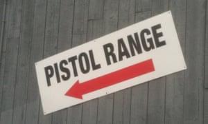 gun range sign in Connecticut