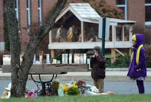 Sandy Hook: Young parishioners pay their respects
