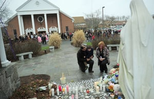 Sandy Hook: Parishioners pay their respects to victims of the shooting