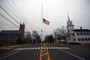 Sandy Hook: The US flag flies at half-mast in memory of the 27 shooting victims