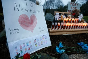 Sandy Hook: A child's message rests by a memorial