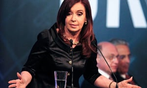 The Argentinian president, Cristina Fernández de Kirchner