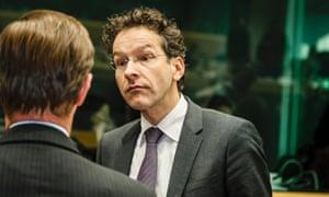 Dutch Finance Minister Jeroen Dijsselbloem at the eurogroup meeting.