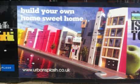 photo of the new islington hoarding