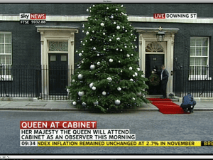 The red carpet at Number 10