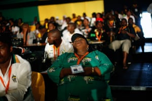 24 hours in pictures: A delegate of the ANC sleeps