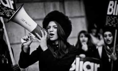 A protest against Tony Blair