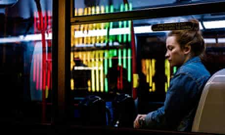 Night bus near Oxford Circus, London