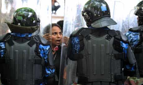 Maldives police officers