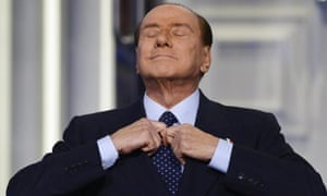 """Focus on one more term, just one more?!"" Italy's former Prime Minister and leader of Italian People of Freedom party, Silvio Berlusconi, adjusts his tie during the recording of the Italian Rai 1 television program 'Porta a porta' in Rome, Italy. Berlusconi announced plans to run again for a Prime Minister, elections due in 2013 and setting off alarm bells on financial markets and EU in Brussels."