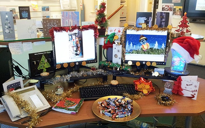 Deck Your Desk Christmas Competition In Pictures Guardian