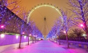 London Eye and Christmas Lights