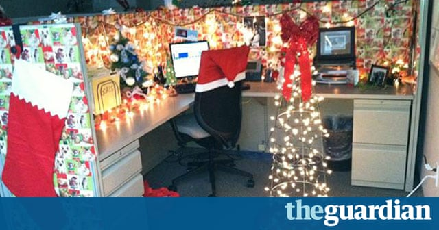Deck Your Desk Christmas Competition In Pictures