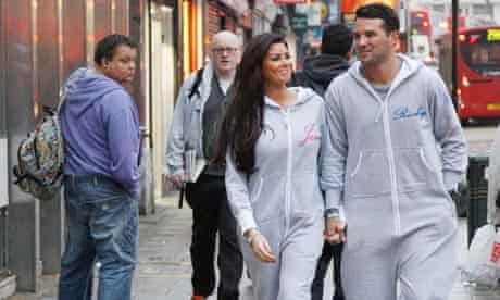 Towie's Jessica and Ricky in onesies