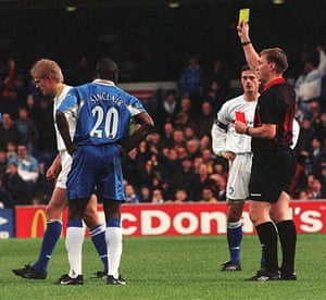 Leeds and Chelsea: Leeds red card