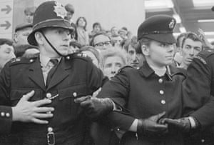 Leeds and Chelsea: Police line