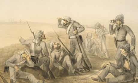 British troops during the Indian uprising of 1857