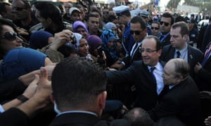 Francois Hollande in Algiers