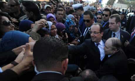 Francois Hollande in Algiers