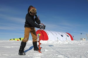 British Antarctic Survey: Drilling down into the ice to search for signs of living organisms