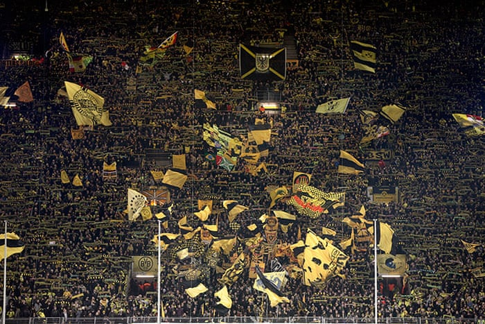 Borussia Dortmund S Yellow Wall In Pictures Football The Guardian