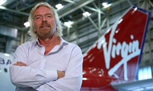 Richard Branson, boss of Virgin Atlantic