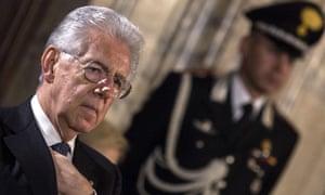 Italian prime minister, Mario Monti