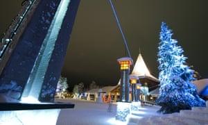 Santa Claus village in Rovaniemi, Finnish Lapland