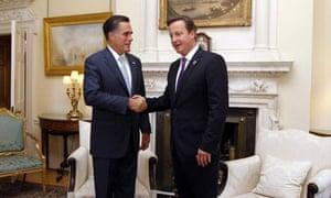 Mitt Romney and David Cameron