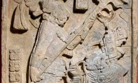 Tongue-tied ... a Mayan limestone relief of a blood-letting ritual