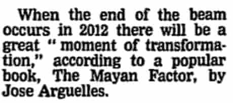 2012 Mayan beam