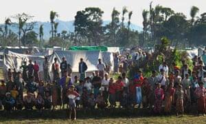 Pauktaw refugee camp in Burma