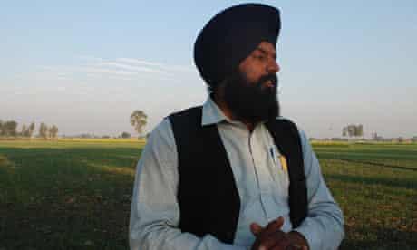 Dulwinder Singh, headman of Manochahal, Punjab