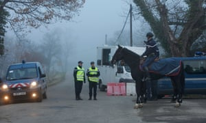 One of the four horsemen of the apocalype? The gendarmerie control Bugarath, in France which according to the prophecy of an ancient Mayan calendar will be the only place on Earth which will be saved from the apocalypse tomorrow night.