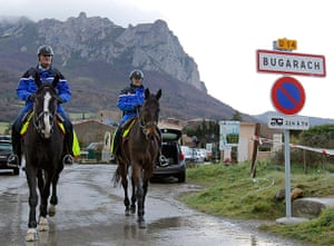 Bugarach prophecy: French mounted police patrol around the village