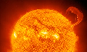 A huge solar flare.