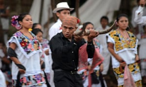 Mayan apocalypse: actors perform a play in Mexico
