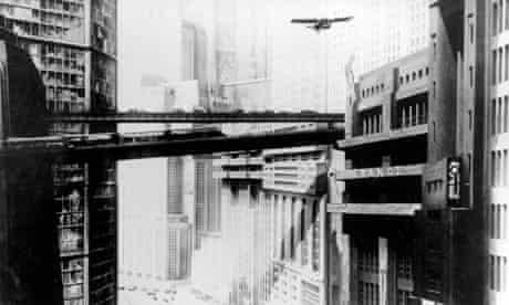 A futuristic city scene from Fritz Lang's 1927 film, Metropolis
