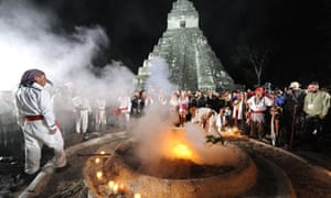 Mayan apocalypse: Mayan shamans take part in a ceremony