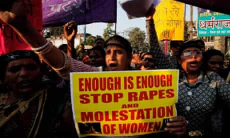 Woman protest in Allahabad, India