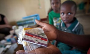 Anti-malaria drugs at a dispensary in Tanzania