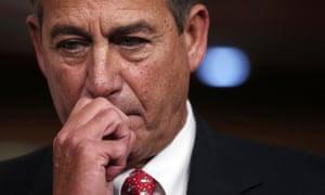 Speaker of the House John Boehner during a press conference