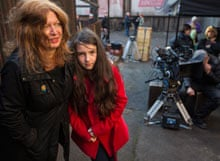Suzanne Moore and daughter on set of Call the Midwife