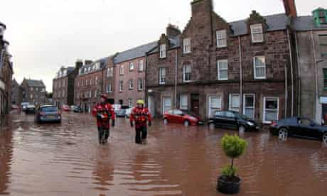 Flooding in Stonehaven