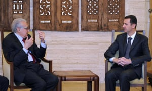 "Syrian president Bashar al-Assad met international envoy Lakhdar Brahimi in the capital Damascus on 24 December. After the meeting Brahimi said: ""The situation in Syria is still worrying and we hope that all the parties will go toward the solution that the Syrian people are hoping for and look forward to."""