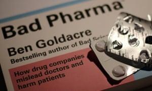 Cover of Ben Goldacre's book, Bad Pharma
