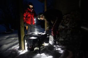 Living in a freezer: The Koppels with their generator